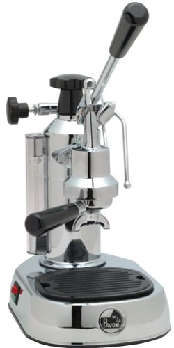 Buy La Pavoni EPC-8 Europiccola 8-Cup Lever Style Espresso Machine, Chrome