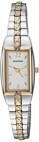 Watch Expansion Bracelet - Armitron Women's 75/3415CHTT Two-Tone Expansion Bracelet Dress Watch