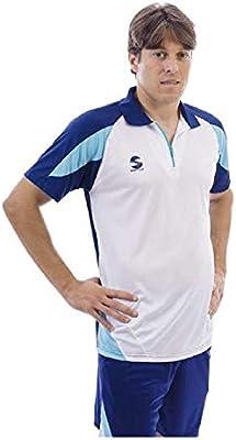 Softee - Polo Padel K3 Color Blanco/Marino/Celeste Talla XXL ...