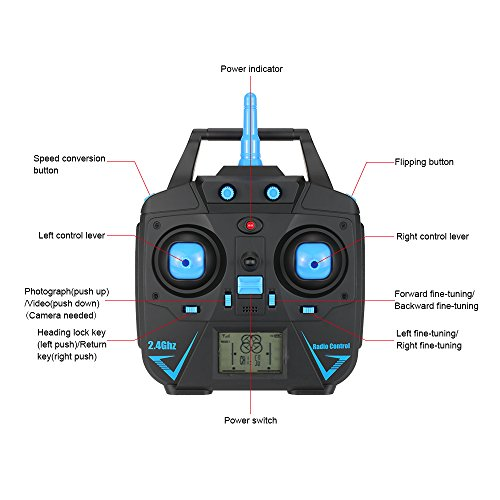 Goolsky JJRC H31 2.4G 4 canales 6-Axis Gyro Drone modo sin cabeza ...