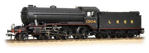 Branch-Line 32-279A Class K3 1304 LNER Lined Black OO Scale Locomotive