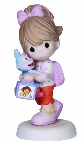 Doras Monkey (Precious Moments Girl with Dora Backpack and Monkey Figurine, 141030)