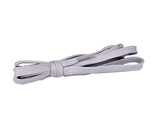 Flat Shoelaces [1 Pairs] Thick - For Shoes, Sneakers & Boots - Gray by DRAGON SONIC