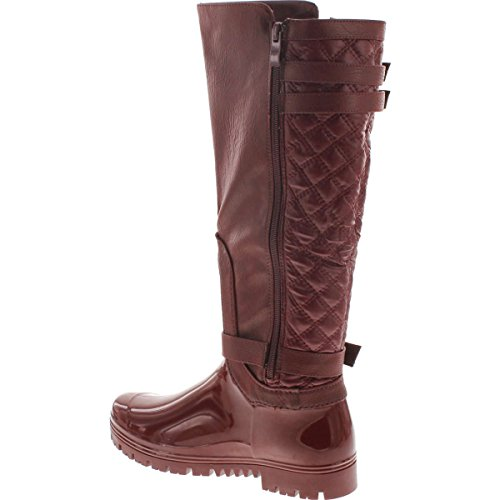 Forever Wine Carrie 67 Boots Quilted Link 67 Womens Buckle Motorcyle UrUqT