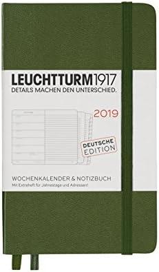 Leuchtturm1917/357724/Calendario semanal y cuaderno 2019 A6 Pocket Alem/án Fresh Green