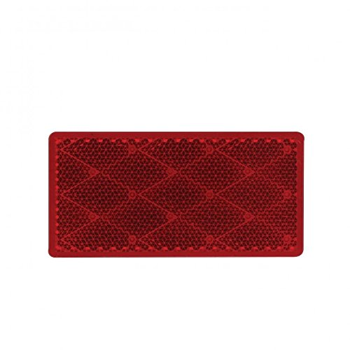 United Pacific 30708 Rectangular Quick Mount Reflector - Red
