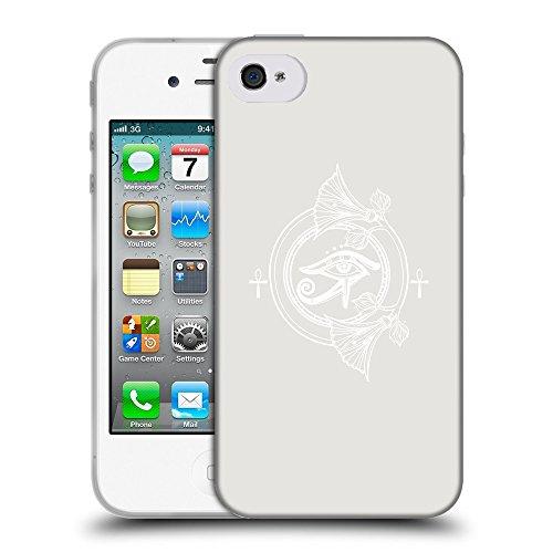 GoGoMobile Coque de Protection TPU Silicone Case pour // Q09860631 Religion 26 Platine // Apple iPhone 4 4S 4G