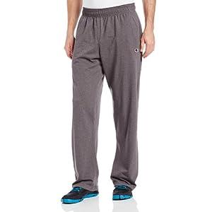 Champion Men's Authentic Open Bottom Jersey Pant, X-Large - Granite Heather