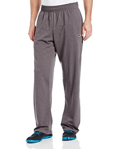 Champion Men's Authentic Open Bottom Jersey Pant, XX-Large - Granite Heather - Basketball Jerseys Heather