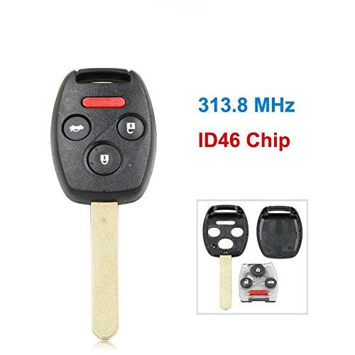 dewangliリモートキーFob 4ボタン用313.8 MHz id46チップホンダアコードシビック2008 – 2012 B07BBJDHFR