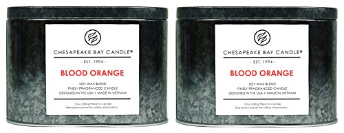 Chesapeake Bay Candle Tin with Double Wick Scented Candles, Blood Orange, 2-Pack