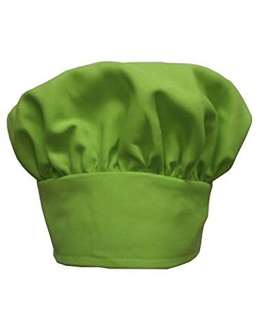 Chefskin Chef Mushroom Hat Kids Children PURPLE Velcro Adjustable (LIME GREEN) - Childrens Chef Hat