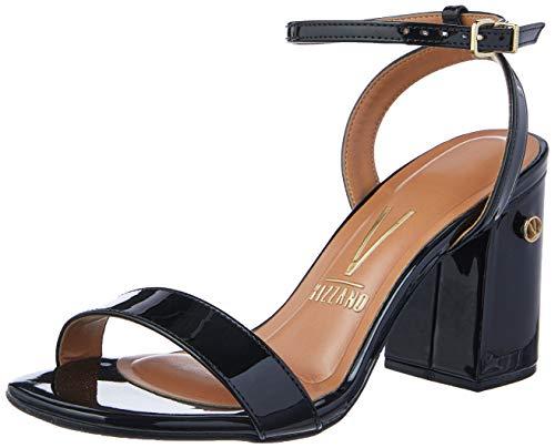 Sandálias Premium, Vizzano, Feminino, Verniz Preto, 35