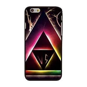 HC-Triángulos y contraportada de plástico duro estilo ligero para iphone 6
