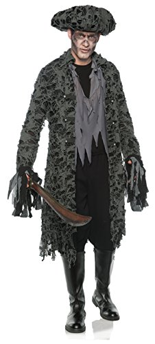 Men's Tattered Ghost Pirate Zombie Costume