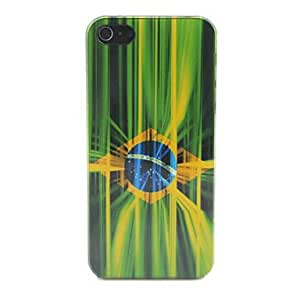 ZL Retro Flag of Brazil Pattern PC Back Case for iPhone 5