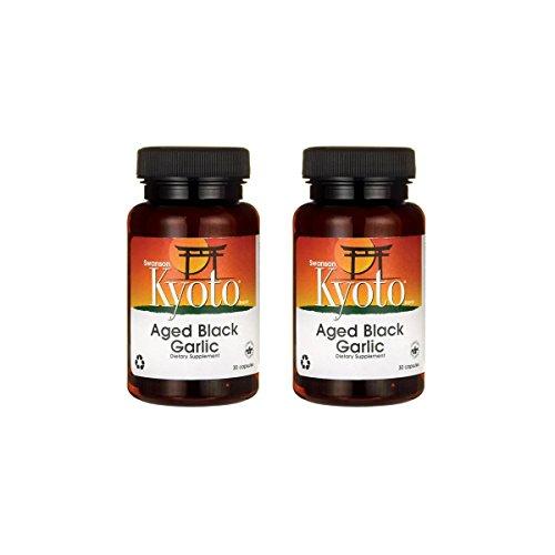 Swanson Aged Black Garlic 650 mg 30 Caps 2 Pack