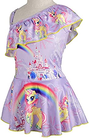 Lito Angels Traje de baño de una pieza para niñas, diseño de unicornio