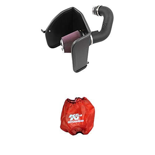 K&N 63-3088 Performance Air Intake System with Red Air Filter Wrap