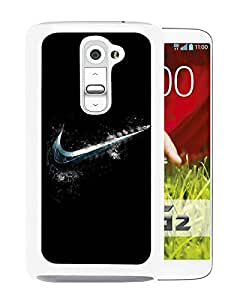 Popular And Unique Custom Designed Case For LG G2 With Cold Nike Logo White Phone Case