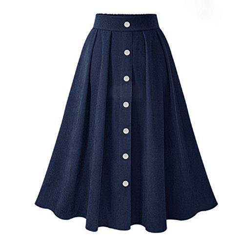mi Femmes pour Longue Fonc lgante mi Bleu mi Longue Longue Jupe Jupe FuweiEncore Jupe 5vwq45P