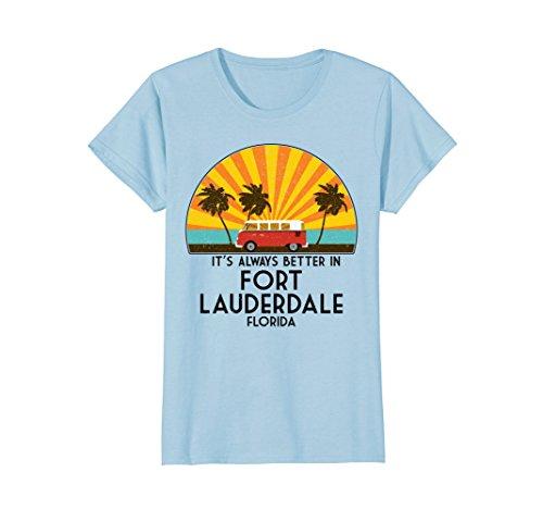 Womens Fort Lauderdale, Florida Souvenir T-Shirt - Fort Lauderdale Medium Baby - Women Lauderdale Fort
