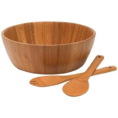 Lipper International 8208-3 Bamboo 3-Piece Salad Set