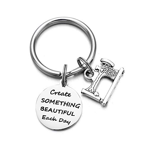 Happy Birthday Charms Key Ring Key Holder Creat Something Beautiful Each Day Friendship BFF Gift Key Chain ()
