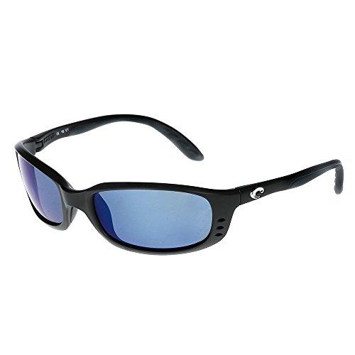 Costa Del Mar Brine Sunglasses BR 11 OBMP Matte Black/Blue Mirror - Costa Mar Del Sunglasses Warranty