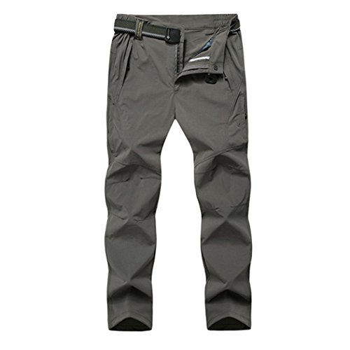 Modern Fantasy Mens Casual Quick-dry Uv Pants Big Size US L Khaki (What To Wear To 80s Party)