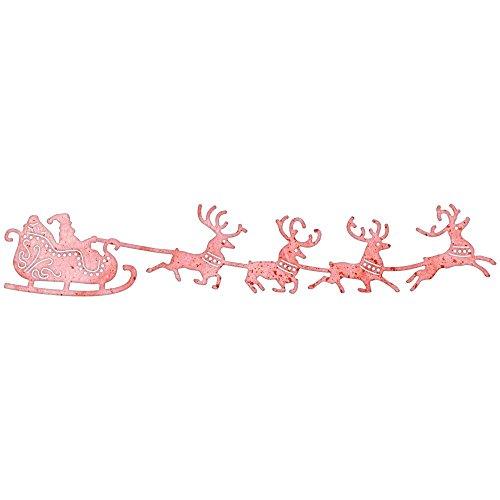 Cheery Lynn Designs B326 Santa's Sleigh and - Sleigh Santa Reindeer