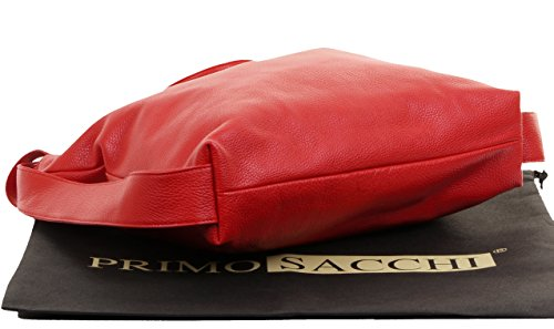 Branded Sacchi® Grab Bag Shoulder Protective Primo Rucksac Storage Handbag Bag Incudes Leather Red Ladies Textured Pack Back Italian HOAASqB