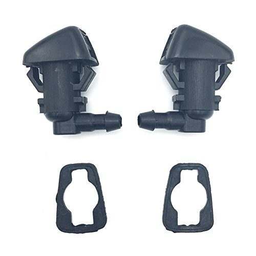 WayJun 2 Pcs Windshield Water Jet Washer Nozzle for 2008-2010 Ford F250 F350 F450 F550 Super Duty Replace# 7C3Z17603A