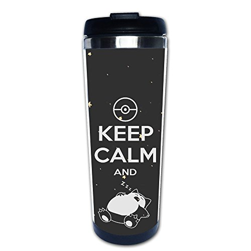 LiZizz Keep Calm And Snorlax Sleep On Pokemon Stainless Steel Mug / Coffee Thermos & Vacuum Flask (Charizard Coffee Mug)