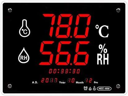 MRZ Thermometer Und Hygrometer,LCD-Anzeige, Zeit/Alarm/Temperatur Und Feuchtigkeitskorrektur/Uhr/Kalender, Laborlager Lagerüberwachung.
