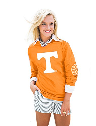 Long Tennessee Sleeve Volunteers (NCAA  Tennessee Volunteers,  Puff Print Elbow Patch Long Sleeve Tee, Tennessee Orange, Small)