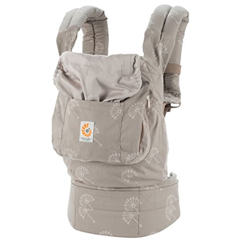 Ergobaby Original Award Winning Ergonomic Multi-Position Baby Carrier with X-Large Storage Pocket, Dandelion ()