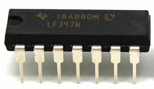 Texas Instruments LF347N IC Wide Bandwidth Quad JFET Input Operational Amplifiers (Pack of 5)
