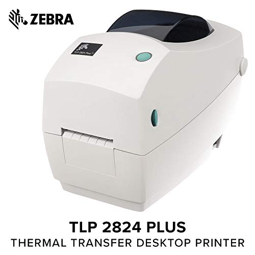 Zebra Tlp 2824 Desktop Printer - ZEBRA- TLP2824 Plus Thermal Transfer Desktop Printer for Labels, Receipts, Barcodes, Tags, and Wrist Bands - Print Width of 2 in - USB and Ethernet Port Connectivity