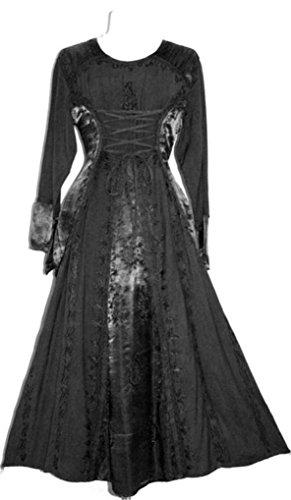 430628 DR Agan Traders Gothic Corset Long Dress [Black; (Rennaisance Dress)