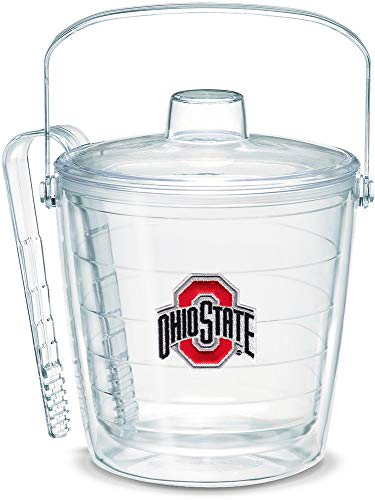 Tervis 1007657 Ohio State Buckeyes Logo Ice Bucket with Emblem and Clear Lid 87oz Ice Bucket, Clear
