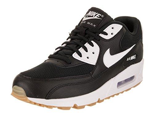 Nike WMNS Air Max 90, Chaussures de Gymnastique Femme, Beige Noir (Black/White/Gum Light Brown/Wh 055)