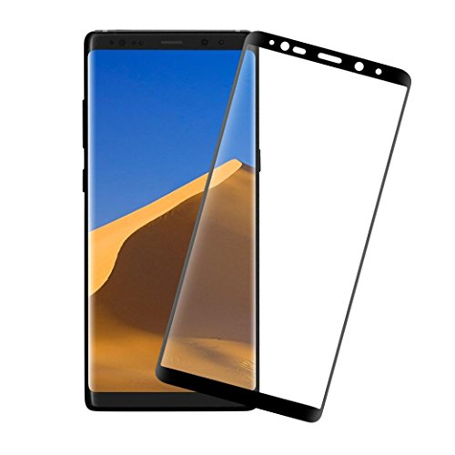 - Livoty For Samsung Galaxy Note 8 Screen Protector 9H Curved Full Temper Glass Film (Black)