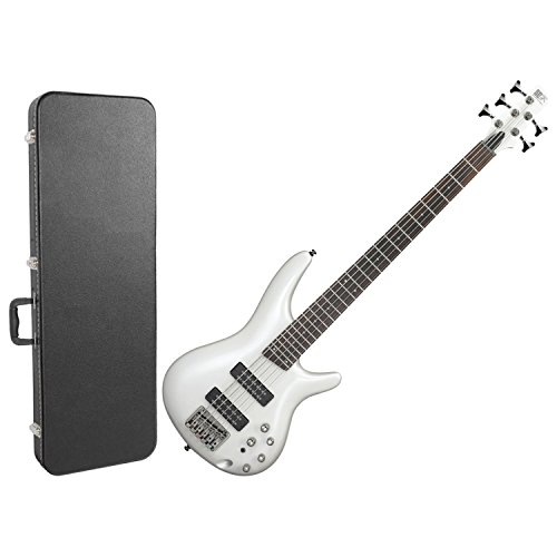 Ibanez SR305EPW 5 String Electric Bass Guitar Metallic Pearl White w/ Hard Case