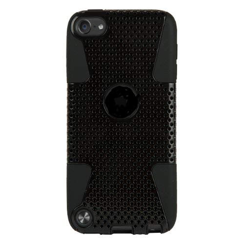 Black Fusion Dual Layer Hybrid Protector Case For Apple iPod Touch 5 (Ipod Touch Me179ll A)