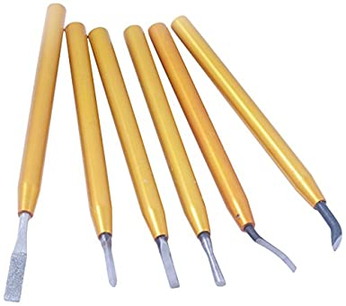 HHIP 2001-0226 6 Piece Royal Style Deburring Tool Set