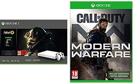 Xbox One X - Consola 1 TB, Edición Fallout 76 , Blanco + Call of ...