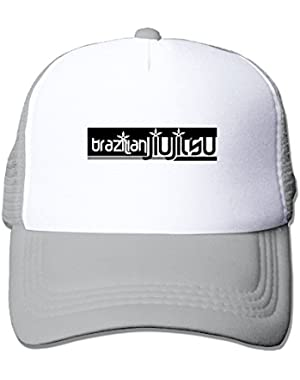 Brazilian Jiu Jitsu Mesh Baseball Cap Adjustable Trucker Hat for Men Women