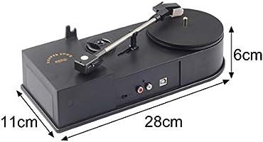 Multifuncional USB Mini tocadiscos tocadiscos Reproductor de audio ...