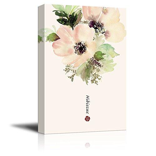 Watercolor Style Hibiscus Flower Petal